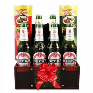 Beck's For Good Pringles Large Beer Basket – Christmas Gift