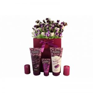 Deep Purple with Spa – Sweet Bouquet Christmas Gift