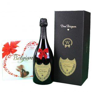 Dom Perignon & Belgian Bonbons Box – Christmas Gift