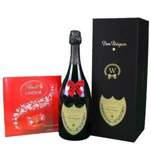 Dom Perignon & Lindor Bonbons Box – Christmas Gift