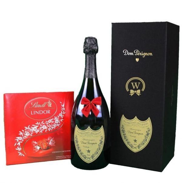 Dom Perignon & Lindor Bonbons Box - Christmas Gift
