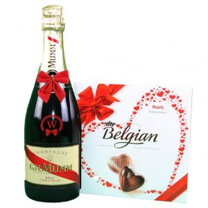 G.H. Mumm & Belgian Bonbons Box – Christmas Gift