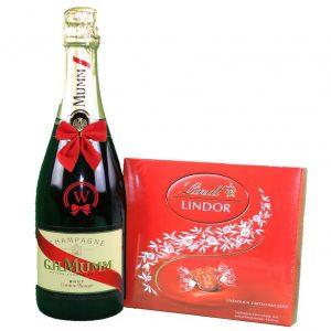 G.H. Mumm & Lindor Bonbons Box – Christmas Gift
