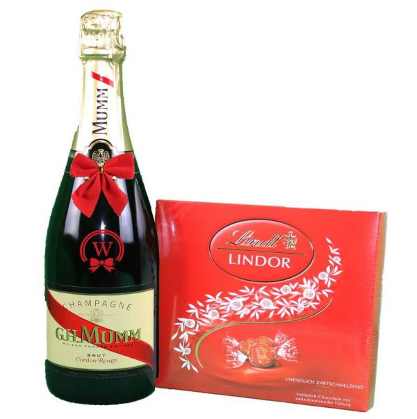 G.H. Mumm & Lindor Bonbons Box - Christmas Gift