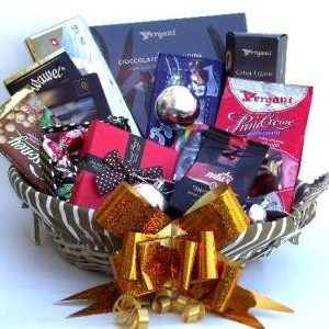 Holiday Coffee and Sweets Christmas Gift Basket