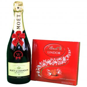 Moet Chandon & Lindor Bonbons Box – Christmas Gift