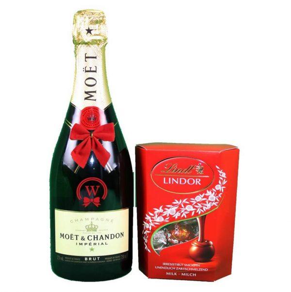 Moet Chandon & Lindor Pralines - Christmast Gift