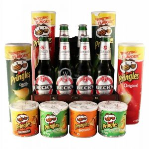 Pringles & Becks XXL Beer Gift Basket – Christmas Gift