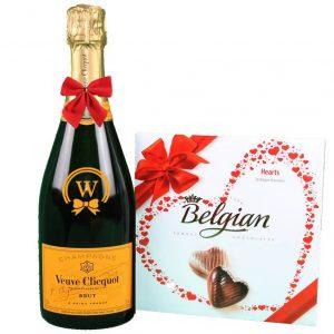 Veuve Clicquot & Belgian Bonbons Box – Christmas Gift