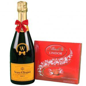 Veuve Clicquot & Lindor Bonbons Box – Christmas Gift