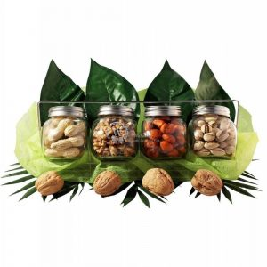 4 Nuts Jar Gift – Christmas Gift