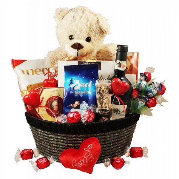 All of My Love - Chocolate & Wine Christmas Gift Basket