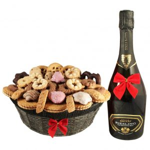 Ambassador Cookies Basket with Sparkling Wine – Christmas Gift