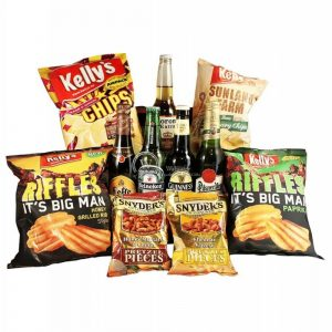 Beers and Snacks – Beer Christmas Gift Basket
