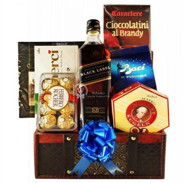 Black Johnnie Walker Christmas Gift Basket