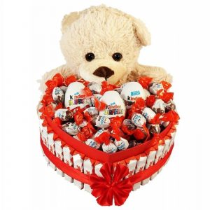 Bostjan's Teddy Bear Heart Shape Kinder – Christmas Gift