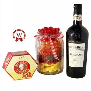 Candy Jar with Red Wine – Christmas Gift