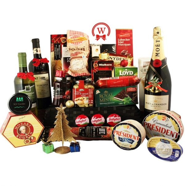Celebrate with Style - Gourmet Christmas Gift Basket