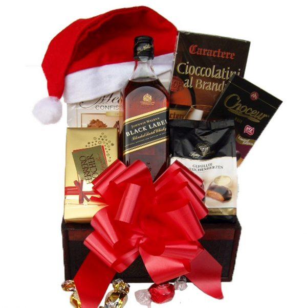 Christmas Black Johnnie Walker Gift Basket