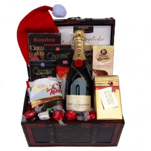 Christmas MOET Treasure Chest Christmas Gift Basket