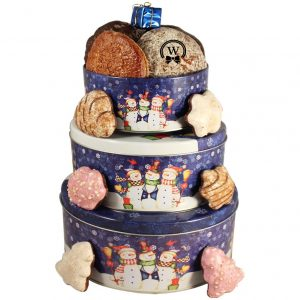 Christmas Perfecto Tin Tower – Cookies Christmas Gift Basket