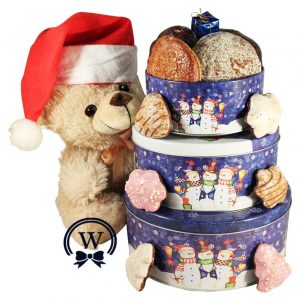 Christmas Perfecto With Teddy – Cookies Christmas Gift Basket