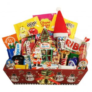 Christmas Retro Sweet Christmas Gift Basket