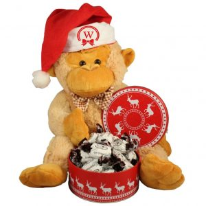 Christmas Treats with Monkey Plush toy – Christmas Gift