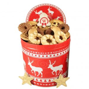Christmas Unlimited – Cookies Christmas Gift Basket Tin Box