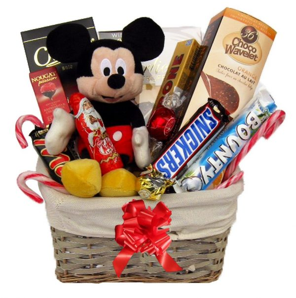 Christmas With Mickey Mouse Christmas Gift Basket