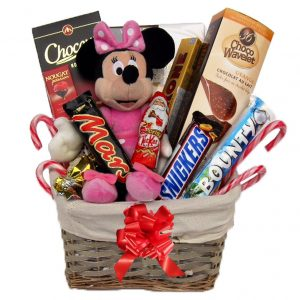 Christmas With Minnie Mouse Christmas Gift Basket