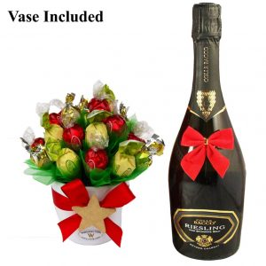 Classic Christmas Sweet Bouquet with A Sparkling Wine Gift