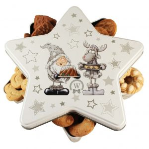 Cookies Star Tin – Cookies Christmas Gift Basket