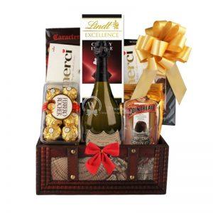 Dom Perignon Christmas Gift Basket