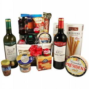 French Morning Sunrise – Wine & Cheese Christmas Gift Hamper