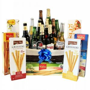Give Him Beers – Grissini Beer Christmas Gift Basket
