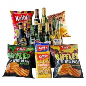 Give Him Beers – Snacks and Beers Christmas Gift Basket