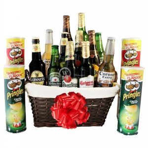 Give Him Beers – Pringles Beer Christmas Gift Basket