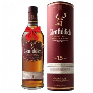 Glenfiddich Unique Solera Reserve 15 Year Single Malt Scotch 700ml – Christmas Gift
