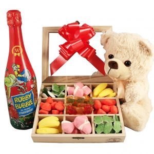 Haribo Teddy and Kids Champagne Christmas Gift Kit