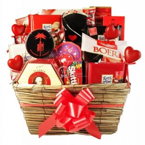 In the name of … Love – Chocolate Christmas Gift Basket