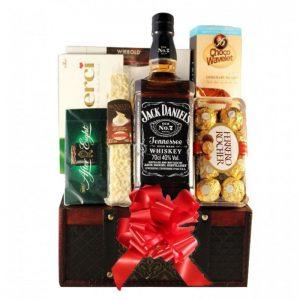 Jack Daniels Christmas Gift Basket