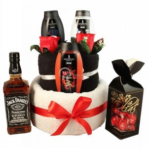 Jack, My Hero – Man Spa Towel Cake Christmas Gift
