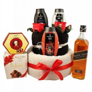 Johnnie, My Hero – Man Spa Towel Cake Christmas Gift