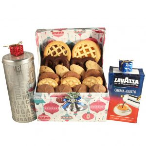 Let It Snow with Coffee – Cookies Christmas Gift Basket