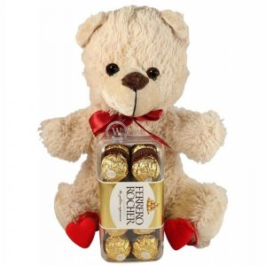 Love Is Wherever You Go – Chocolate & Teddy Christmas Gift