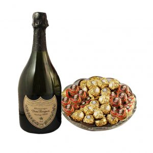 Mozart Rocher Platter With Dom Perignon – Christmas Gift