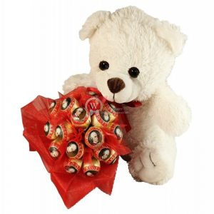 Mozart Teddy With Loving Hand Bouquet – Christmas Gift