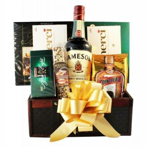 Mr. Jameson Left Dublin – Irish Whiskey Christmas Gift Basket