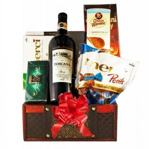 Music Box Christmas Gift Basket